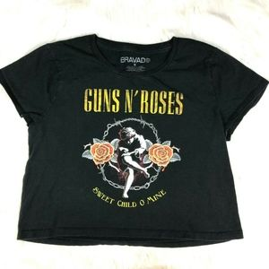 Bravado Guns n Roses Crop Top Graphic Tee T-Shirt